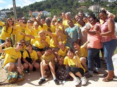 A group pf volunteers and Projects Abroad staff in Jamaica.
