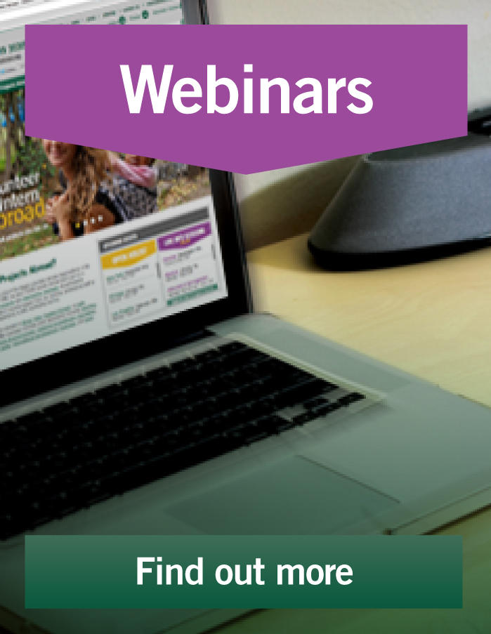 Learn about volunteering abroad online in one of our webinars