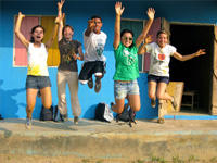 Global Gap volunteers at one of the their five placements during their year of travel.