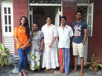 A host family in Sri Lanka who welcome Projects Abroad volunteers into their home.