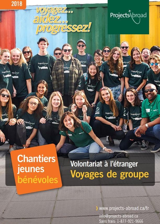 de la brochure Chantiers jeunes bénévoles