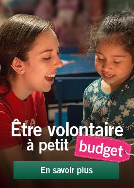 Être volontaire à petit budget