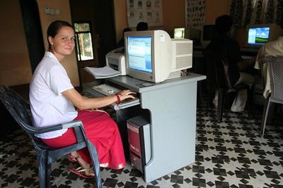 Volontaire en action au Sri Lanka