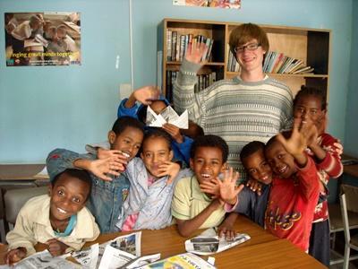 Chantier International avec des enfants