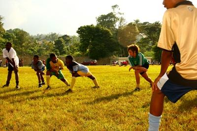 Chantier international de jeunes sportifs en Jamaïque