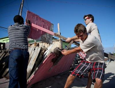 Construction communautaire en Afrique du Sud