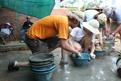 Echange culturel au Cambodge