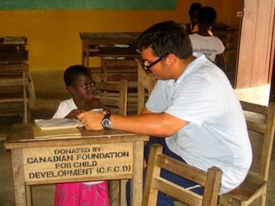 Volunteer reading the lesson