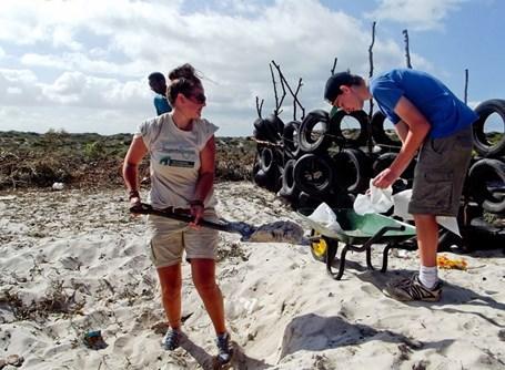 Volontaires pneus Afrique du Sud