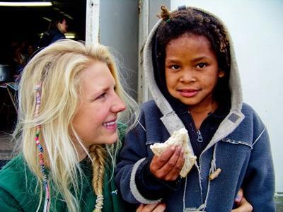 Volontaire dans le cadre du projet nutrition en Afrique du Sud