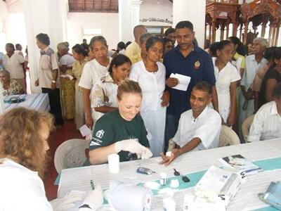 Campagne de prévention médicale au Sri Lanka