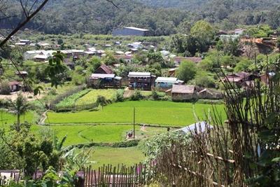 Village d'Andaside, lieu de la mission en santé publique à Madagascar