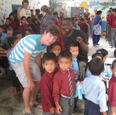 Bénévoles au Nepal