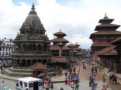 Prise de vue de la ville de Kathmandou, au Népal