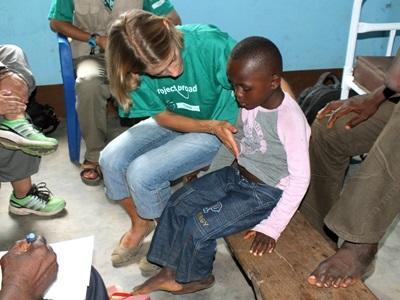 Volontaire dans le cadre du projet VIH/Sida au Togo
