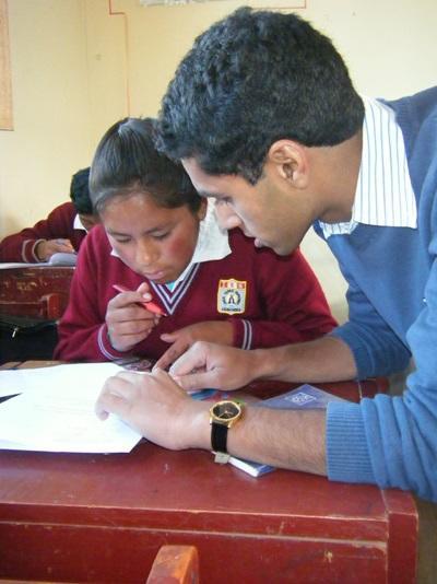Volontaire humanitaire enseignement Pérou