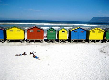 Plage Bu à Cape Town en Afrique du Sud