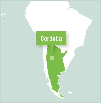 Carte des missions de volontariat en Argentine