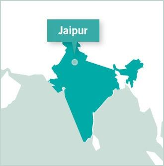 Carte des missions de volontariat en Inde