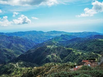 Paysage de la région de Calabre en Italie