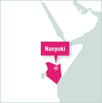 Carte des missions de volontariat au Kenya