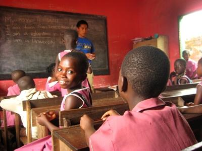 Students at the Volunteer Teaching placement in Ghana