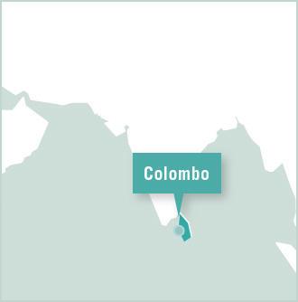 Carte des missions de volontariat au Sri Lanka