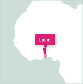 Carte des missions de bénévolat au Togo