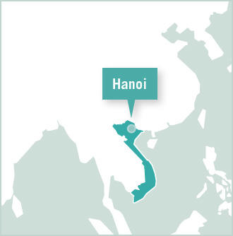 Carte des missions de volontariat au Vietnam