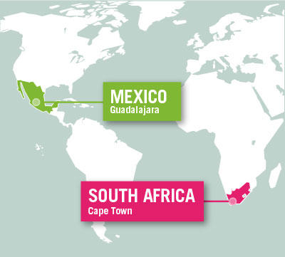 Projects Abroad is based in Guadalajara, Mexico, and Cape Town, South Africa.