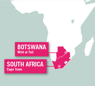 Projects Abroad is based in Cape Town, South Africa, and at the Wild At Tuli Reserve, Botswana.