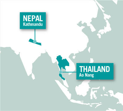 Projects Abroad is based in Kathmandu, Nepal and Ao Nang, Thailand.