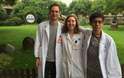 Projects Abroad interns at their medical placement in Asia