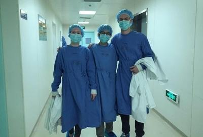 Projects Abroad medical interns together at a hospital in China, Asia.