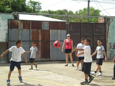 Volunteer Coaching Sports to Children in Central America