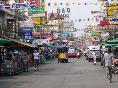 Street scene in Thailand