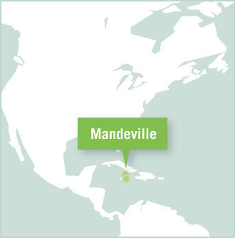 Map of the Projects Abroad volunteer project placement in Mandeville, Jamaica