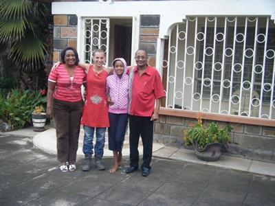 Female volunteer meets her host family in Nakuru, Kenya