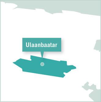 Map of volunteer placement in Ulaanbaatar, Mongolia
