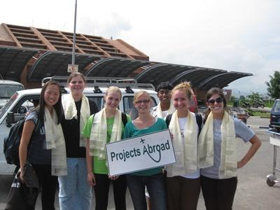 Projects Abroad staff waits for volunteers to arrive at the airport in Nepal