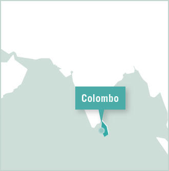 Map of the Projects Abroad volunteer office in Colombo, Sri Lanka