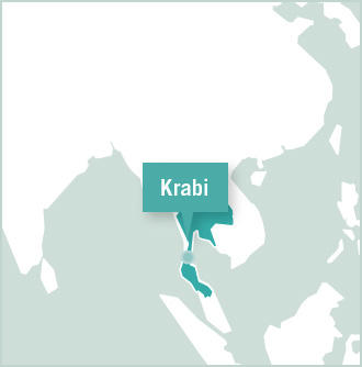 Map of volunteer placement in Krabi, Thailand