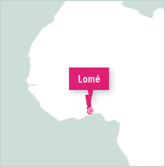 Map of Volunteer Placement in Lome, Togo