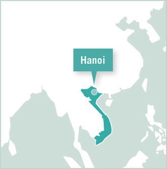 Map of Volunteer Project in Hanoi, Vietnam