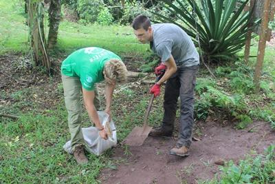 Projects Abroad Ecuador volunteers visit a farm to learn about agriculture practices in the Galapagos Islands