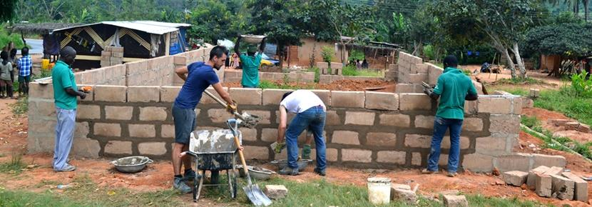 Projects Abroad volunteers help build important infrastructure in developing countries abroad at Building Projects.
