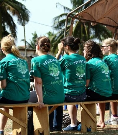 Projects Abroad HIV/AIDS Project volunteers attend an outreach event in Lome, Togo.
