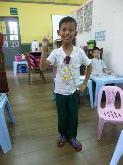 A local child at a disadvantaged school in Myanmar, Southeast Asia.
