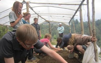 Projects Abroad volunteers help with planting and caring for endemic plant species at the Conservation Project in Nepal.