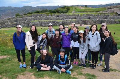 Group volunteering on the Archaeology Project in Peru